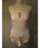 Lingerie Beige Lace Cami Set Size XS 3-4 NWT - $12.00
