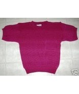 GARLAND ROSE PINK SUMMER PULLOVER SWEATER TOP M... - $7.77