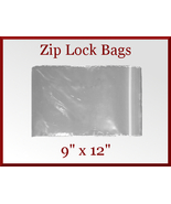 100 Zip Lock Recloseable Poly Seal Bags 9 x 12 ... - $17.98