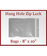 200 Zip Lock Recloseable Poly Seal Bags with Ha... - $26.98