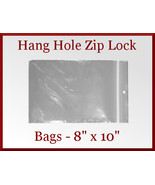 50 Zip Lock Recloseable Poly Bags with Hang Hol... - $10.48