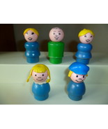 VINTAGE FISHER PRICE LITTLE PEOPLE 5 WOOD BODY ... - $7.50