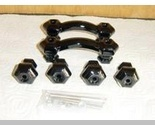 Buy Furniture - Black Glass Furniture Hardware Set Mint