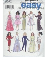 Fashion Doll Clothes Simplicity Pattern 9838 De... - $4.93