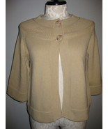 JM Collection Camel Color Bell Sleeve Cardigan ... - $24.00