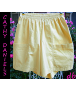 CATHY DANIELS shorts NEW $26 YELLOW small COTTO... - $15.04