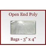 100 Open End Poly Bags 3 x 4 inches USDA FDA Ap... - $6.48