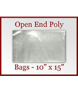 50 Open End Poly Bags 10 x 15 inches USDA FDA A... - $11.75