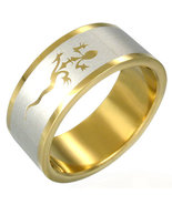 316L Gold Plated Stainless Steel Lucky Lizard R... - $10.00