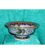 VINTAGE  KEN ED WARDS  PEDESTAL BOWL  - SIGNED  - $135.00