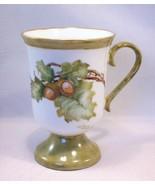 Hand Painted Porcelain Mug - Artist Signed Hele... - $21.99