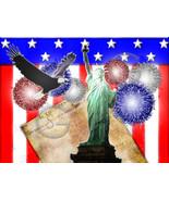 America Fourth of July Fireworks Desktop Wallpa... - $1.00