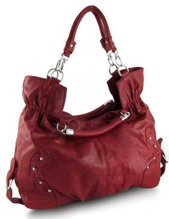 RED OVERSIZED SHOPPER HOBO TOTE URBAN SCHOOL BAG *NEW*