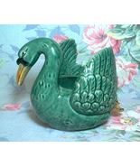 Antique Green Swan Planter 1920's-30's Made In ... - $24.50