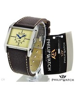 PHILIP WATCH Vintage Model Leather Band Mens Wa... - $59.99