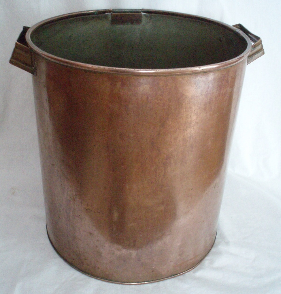 antique copper pot 3 gallon handled bucket