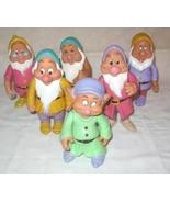 Disney Snow White The 7 Dwarfs Lot Of 6 Hard Pl... - $30.00