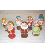 Disney Snow White Set Of 7 Vinyl Squeak Toy Dwarfs - $30.00