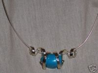 Sterling Silver Necklace w/ Turquoise Blue Stone