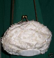 STERLING Styles Fully Beaded Wedding Bag