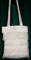 PAPILLON Beaded Fringy Wedding Bag