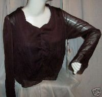 NEIL &amp;amp; DAVID Crinkle Poly Pullover Top Sz M