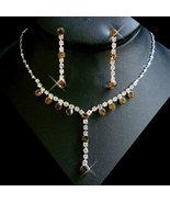 5 Sets Silver Brown Rhinestone Bridesmaid Jewel... - $94.99