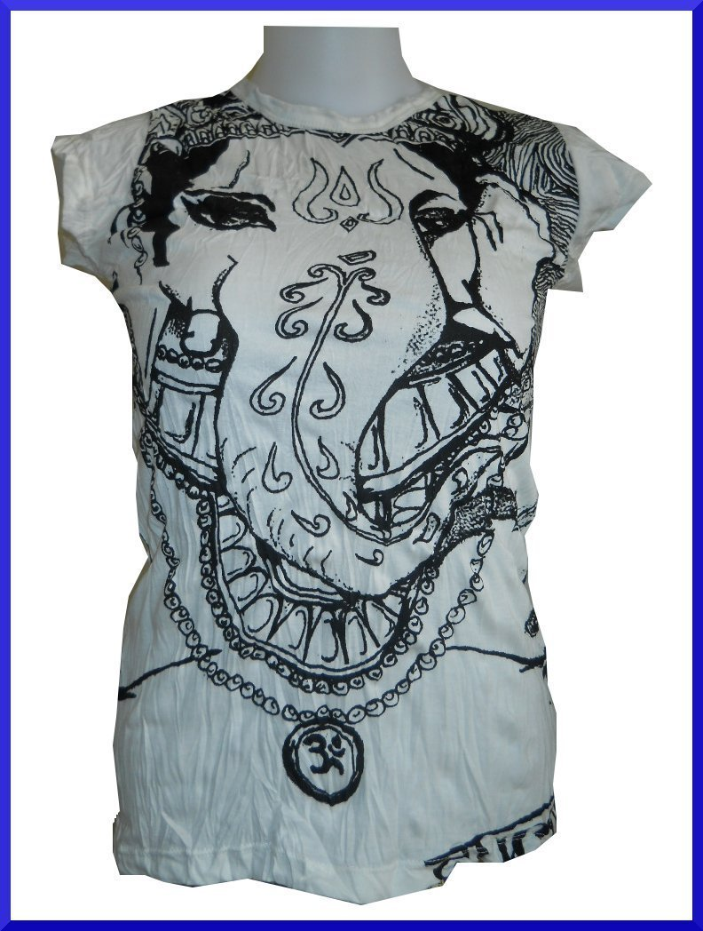 Lady Tank Top Shirt Ganesh Hindu India Sure OneSz RARE