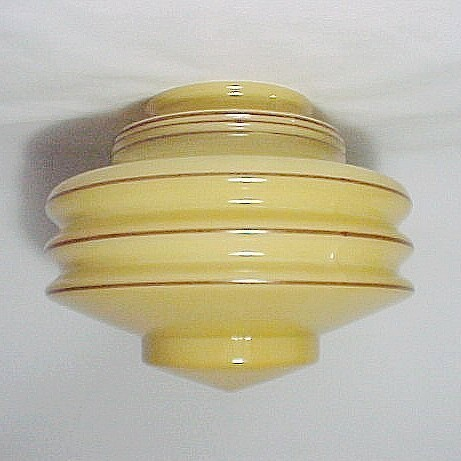 Nu-Gold Glass Art Deco Light Shade Globe Pendand Swag Lamp Flush Ceiling