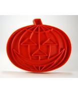 Tupperware Red Pumpkin Jack O Lantern Cookie Cu... - $5.88