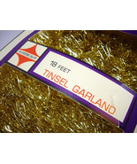The Christmas Gallery Gold Tinsel Garland - Kra... - $16.88