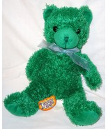Greenbrier Cuddly Cousins Green Plush Teddy Bea... - $14.99