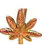 BJ74 Copper Pink Titanium POT LEAF Tongue Ring ... - $4.99