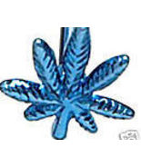 BJ74 BLUE Titanium Anodized POT LEAF Tongue Ri... - $4.99