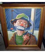 Sad Clown Vintage Paint by Numbers 11 1/2