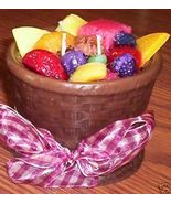 Hand Crafted Wax Candle Fruit Basket with Scented Fruit