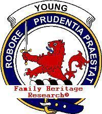 Scottish Clan Crest YOUNG Print Clan Badge YOUNG