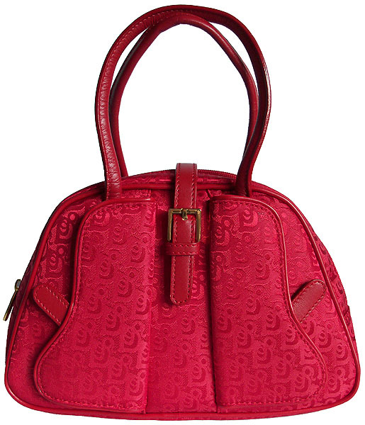Luigi Mini Red Handbag With Leather Trim