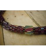 Necklace: Purple Beaded Beads, Furnace Glass & ... - $89.00
