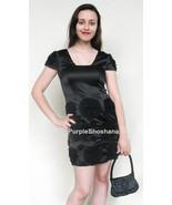 100% Silk Black Cocktail Mini Dress sz 4 - $139.00