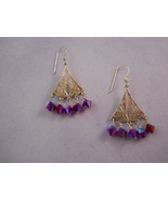 SOLD!! Sterling Silver Chandelier Earrings With... - $30.00