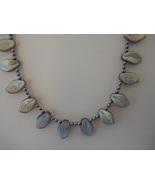 SOLD!!  Necklace: Mauve Swarovski Pearls & Leaf... - $40.00