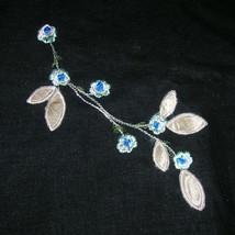 Vintage Cotton Embroidered Floral Applique Line... - $84.40