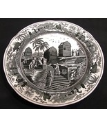 Spode Archive Collection Plate Caramanian Traditions Series Black and White - $14.99