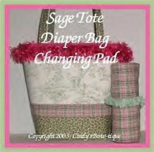 SAGE Central Park Toile Sage LEOPARD Diaper Bag Pad