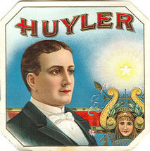 Tobacco, Huyler cigar box label - unused - $4.00