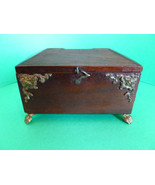 Antique English Folk Art Money Box / Bank Hand ... - $175.00