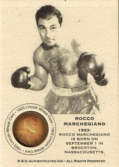 ROCCO MARCHEGIANO - ROCKY MARCIANO 1923 WHEAT CENT CARD