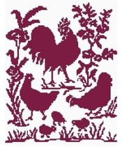 Red Roosters Color Graph Pattern - $3.75