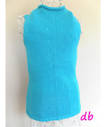 the LIMITED sleeveless SWEATER knit TOP T NECK ... - $15.02